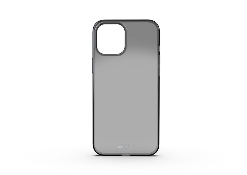 Thin glossy iPhone 12 Pro Max case - Black transparent