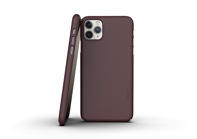 Nudient - Thin iPhone 11 Pro Max Case V3 - Sangria Red
