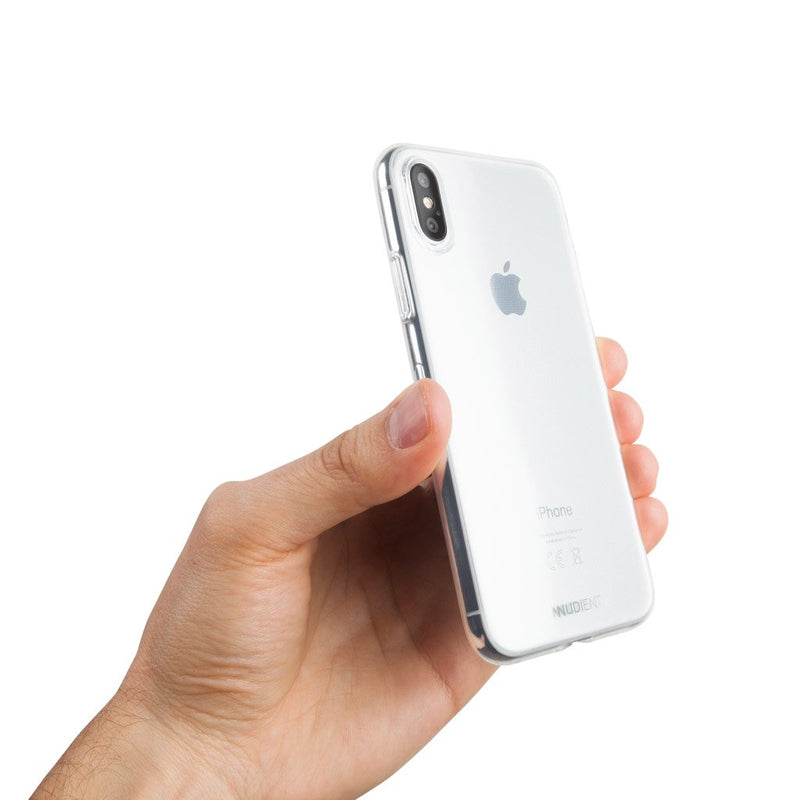 Thin glossy iPhone X case  - 100% transparent