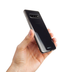 Thin glossy Samsung S10+ case - Black transparent