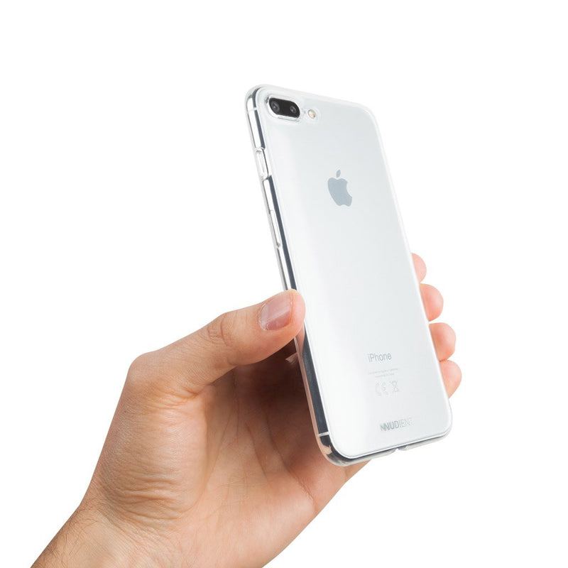 Thin glossy iPhone 8 Plus case - 100% transparent