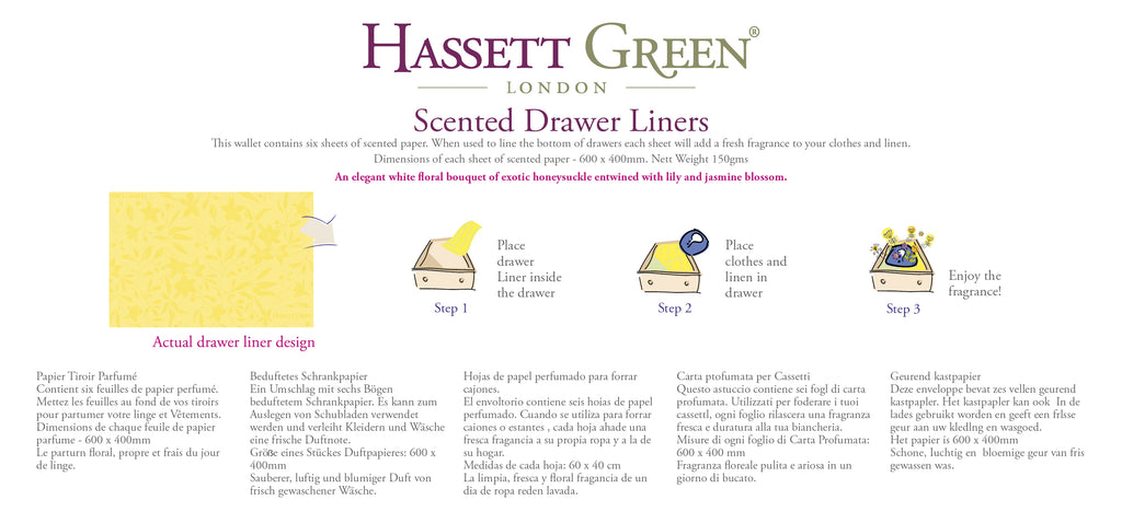 Honeysuckle & Jasmine - Scented Drawer Liners