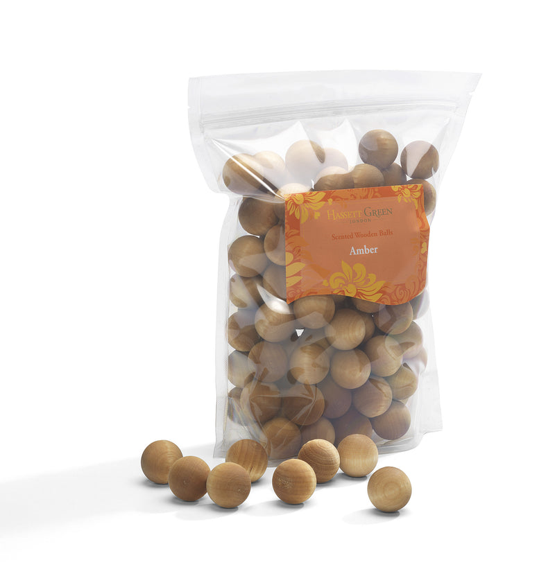 Amber- Scented Wooden Balls (Pack of 100)
