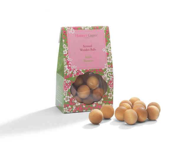 Apple Blossom - Scented Wooden Balls Pack of 12