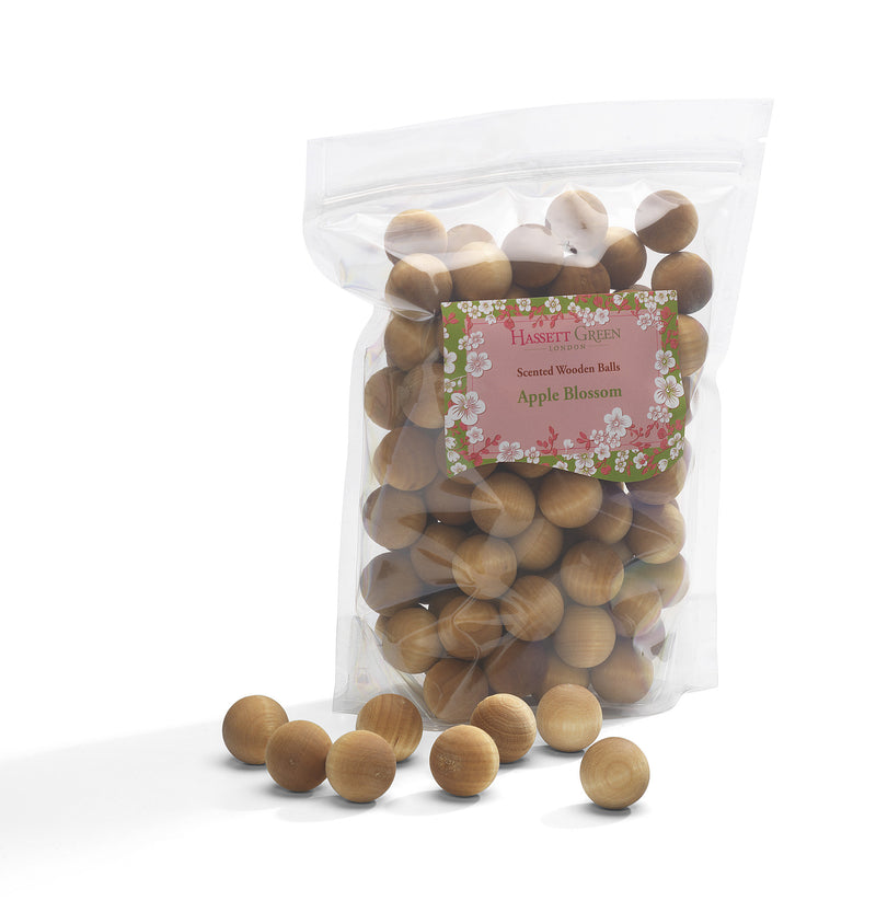 Apple Blossom - Scented Wooden Balls (Pack of 100)