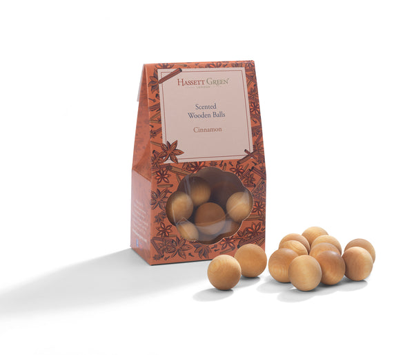 Cinnamon - Scented Wooden Balls Pack of 12