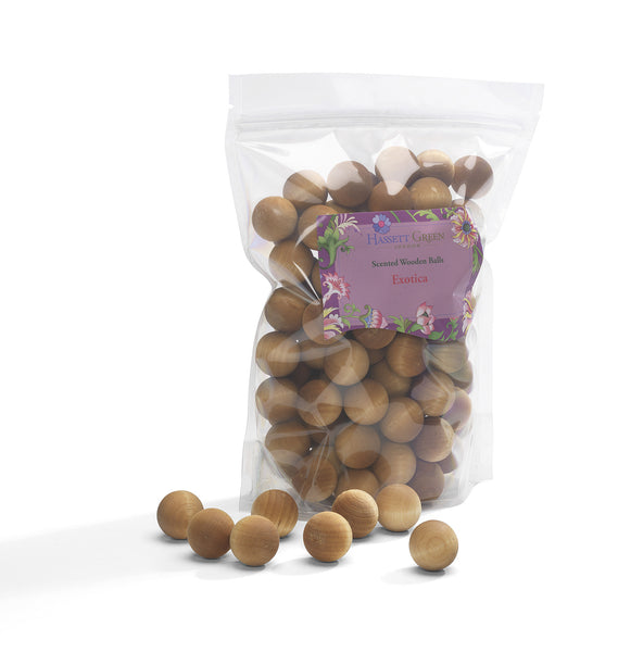 Exotica - Scented Wooden Balls (Pack of 100)
