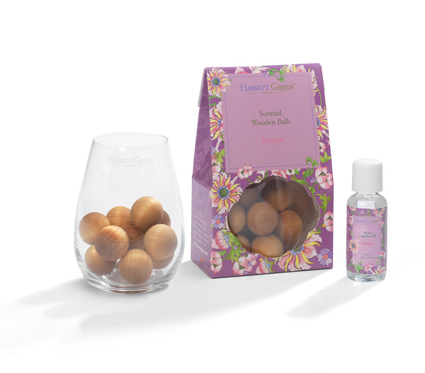 Exotica - Scented Wooden Balls With Oil & Vase