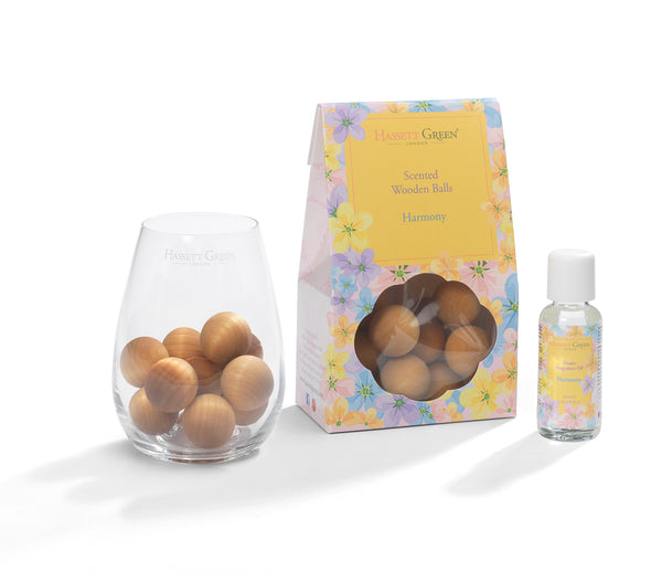 Harmony - Scented Wooden Balls With Oil & Vase