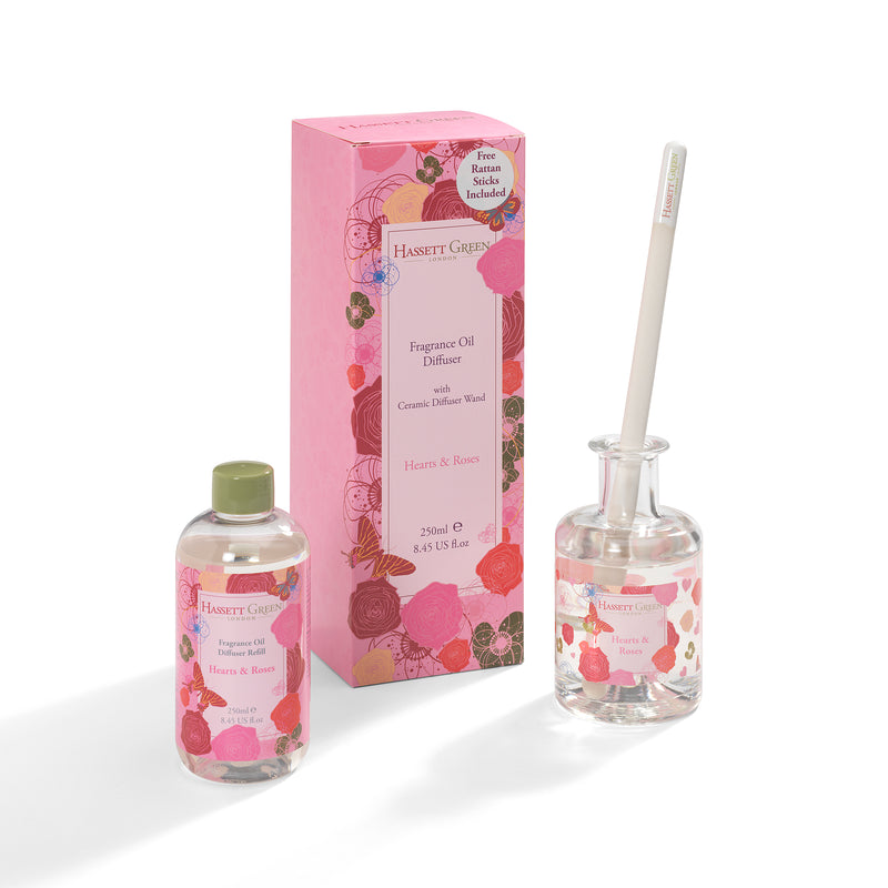 Hearts & Roses Fragrance Oil Diffuser 250ml