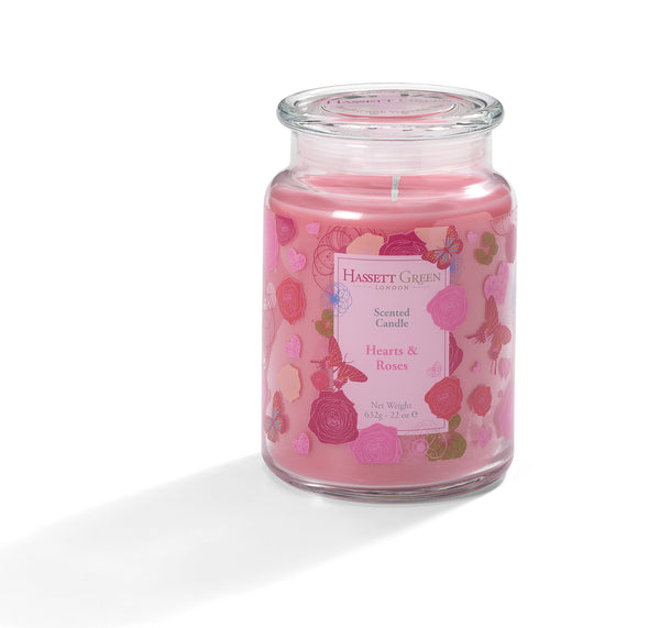 Hearts & Roses - Scented Candle Jar 22oz