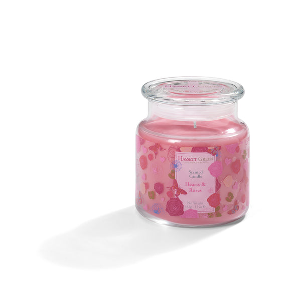 Hearts & Roses - Scented Candle Jar 15oz