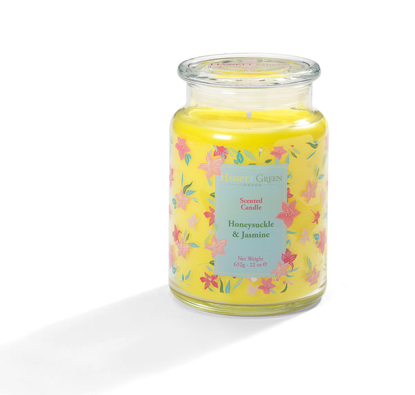 Honeysuckle & Jasmine - Scented Candle Jar 22oz