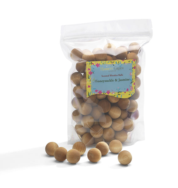 Honeysuckle & Jasmine - Scented Wooden Balls (Pack of 100)
