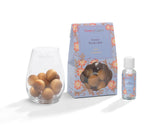 Iced Cranberry - Scented Wooden Balls With Oil & Vase