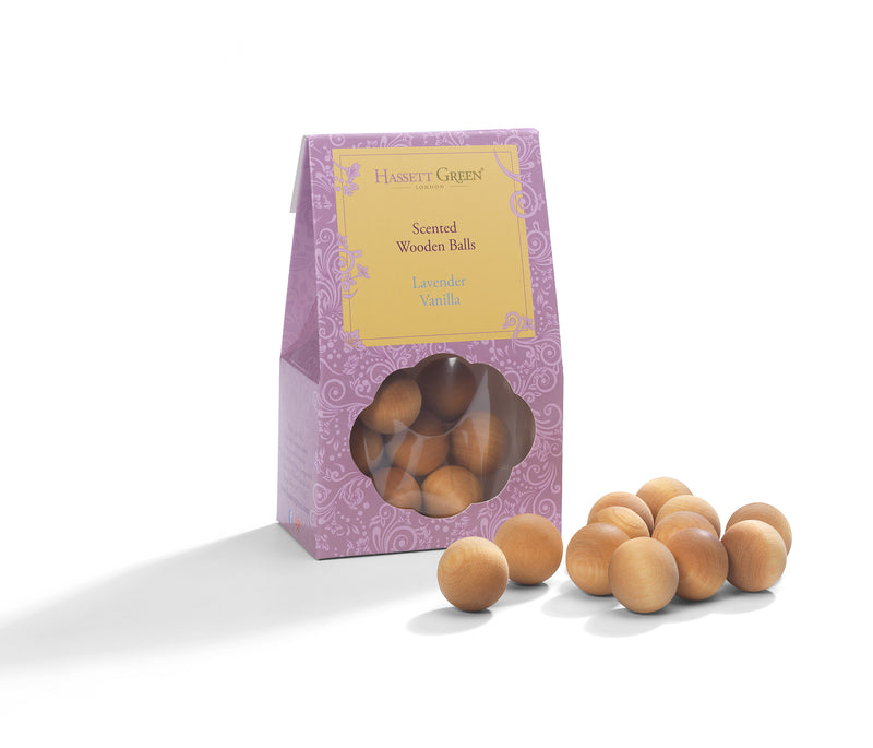 Lavender Vanilla - Scented Wooden Balls Pack of 12