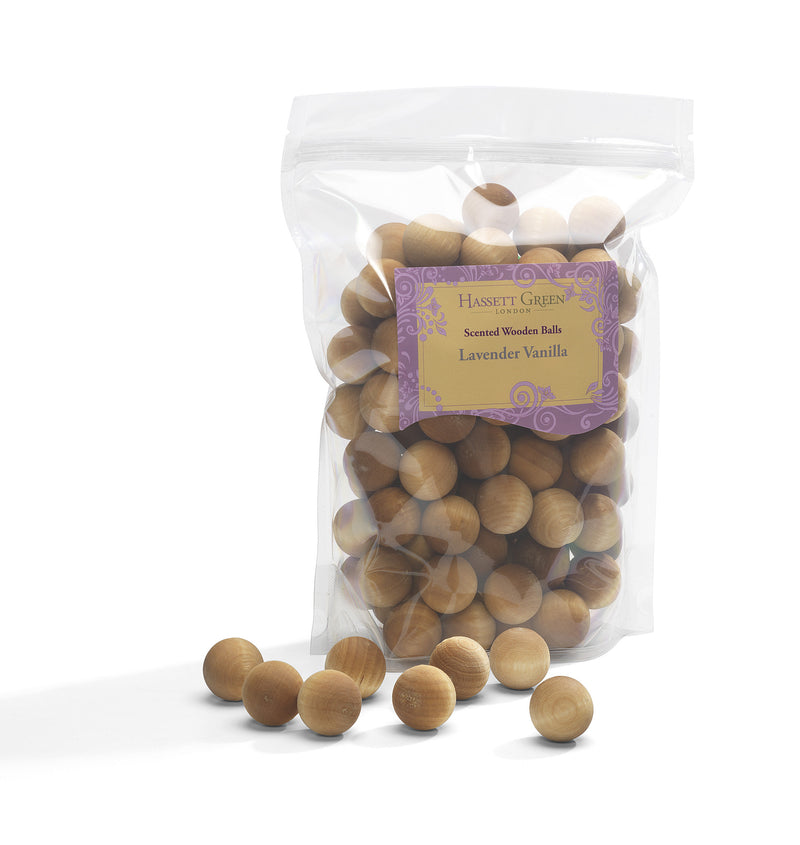 Lavender Vanilla - Scented Wooden Balls (Pack of 100)