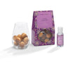 Lilac & Lavender - Scented Wooden Balls With Oil & Vase