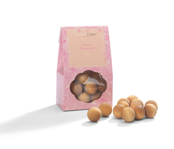 Silk - Scented Wooden Balls Pack of 12