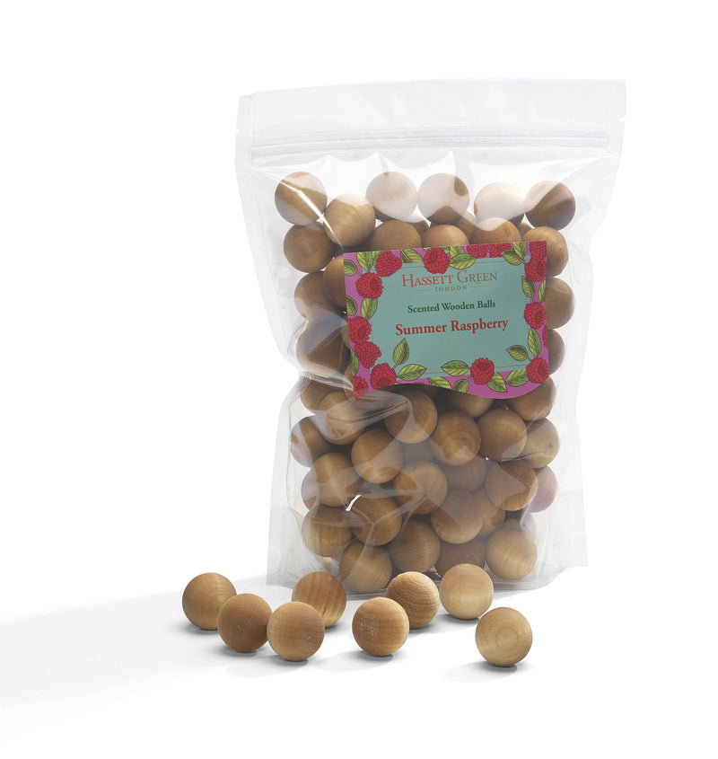 Summer Raspberry - Scented Wooden Balls (Pack of 100)