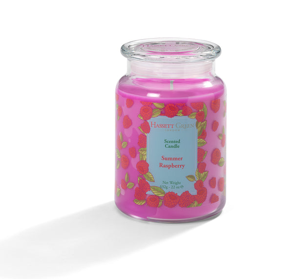 Summer Raspberry - Scented Candle Jar 22oz