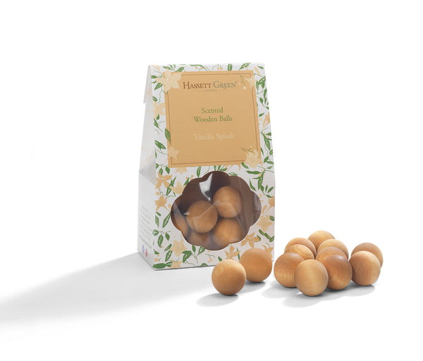 Vanilla Splash - Scented Wooden Balls Pack of 12