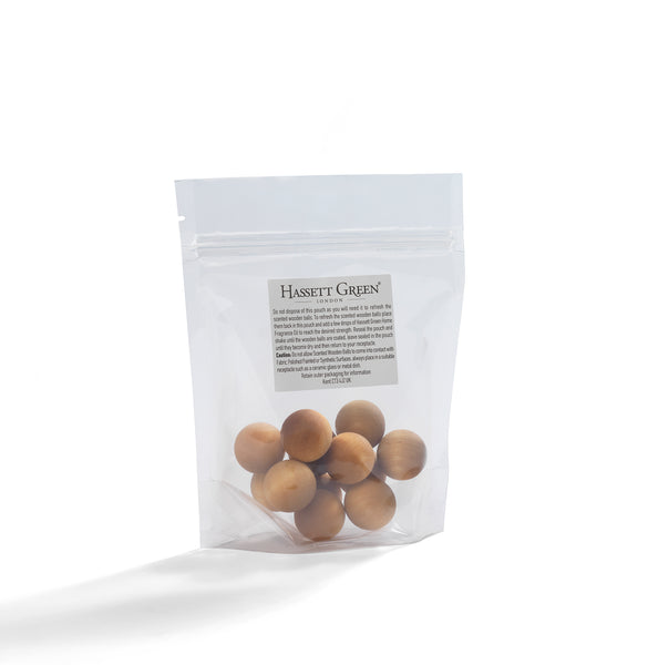 Natural Cotton - Scented Wooden Balls Pack of 12