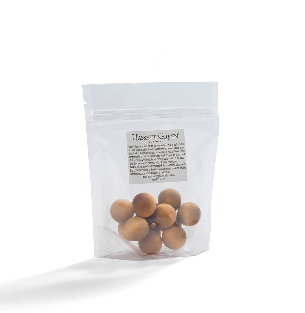 Honeysuckle & Jasmine - Scented Wooden Balls Pack of 12