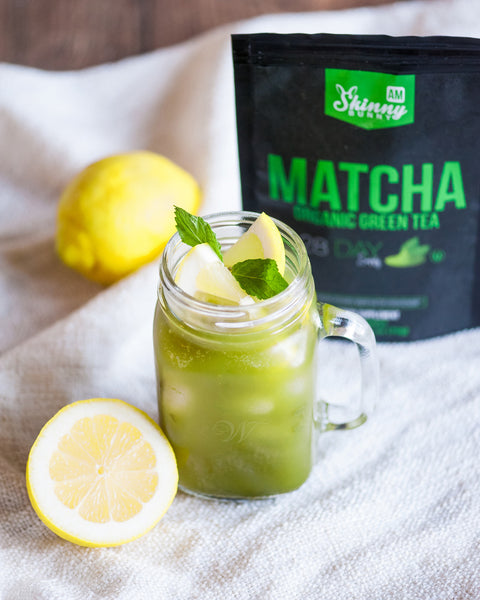 Iced Lemon Mint Matcha Tea Recipe