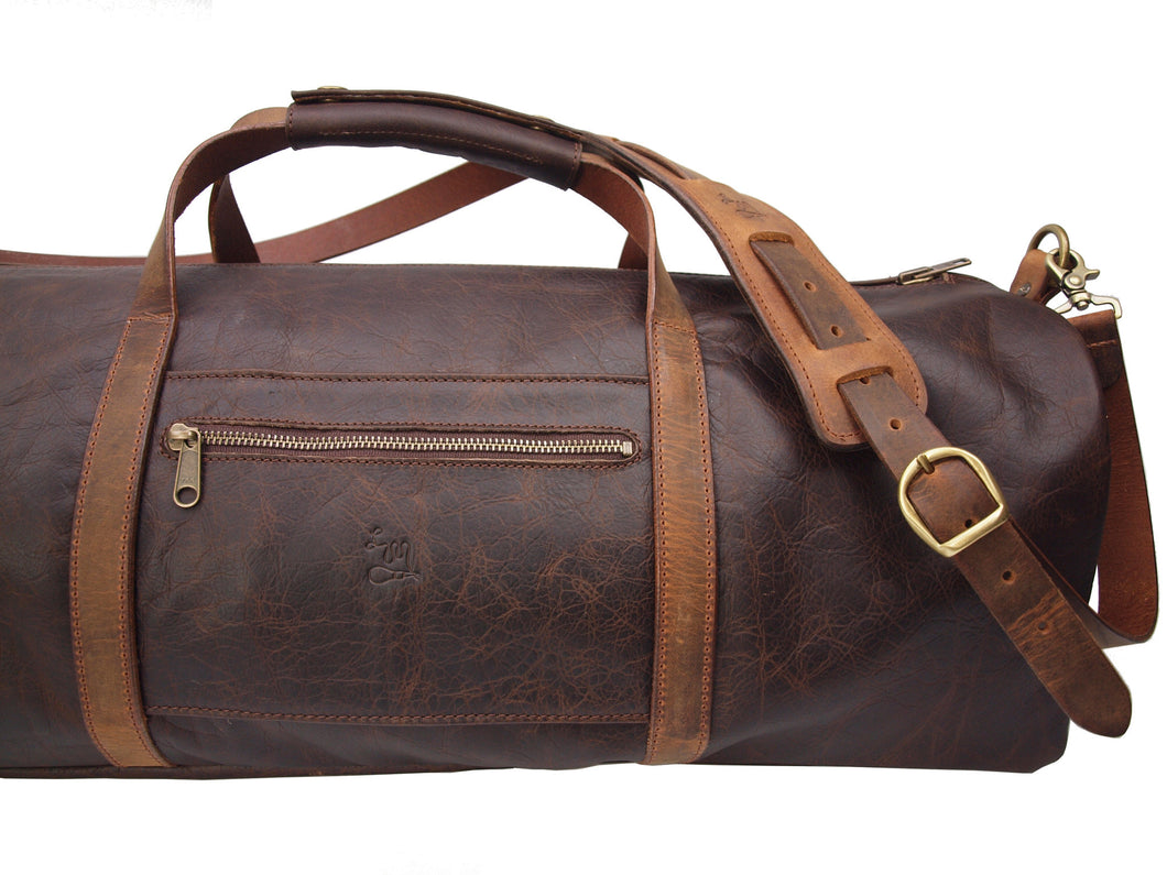 The Drayton Duffel Bag - LM Products - Handcrafted In The Heartland - Leather Goods