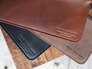 Custom Logo Leather Zipper Pouch