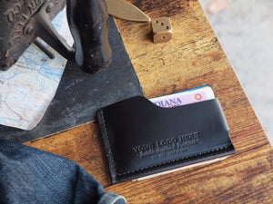 Custom Logo Slim Leather Wallet