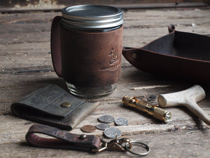 Mason Sleeves - Leather Mason Jar Cup Holder