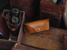 Hunley Leather Glasses Case