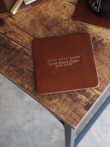 Custom Logo Leather Coasters