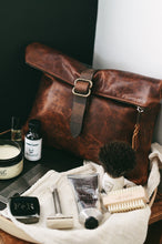 Leather Roll-Top Dopp Kit