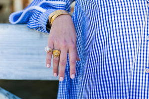 DIANA HORSESHOE PINKY RING