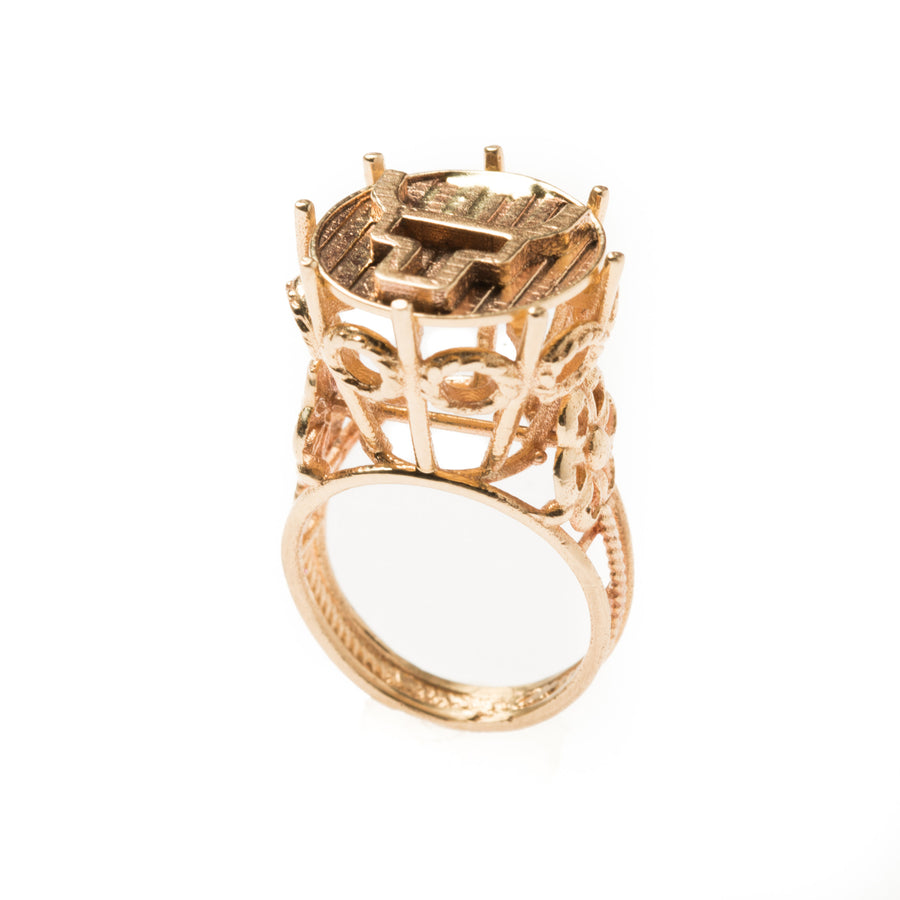 DIANA STEERHEAD PINKY RING