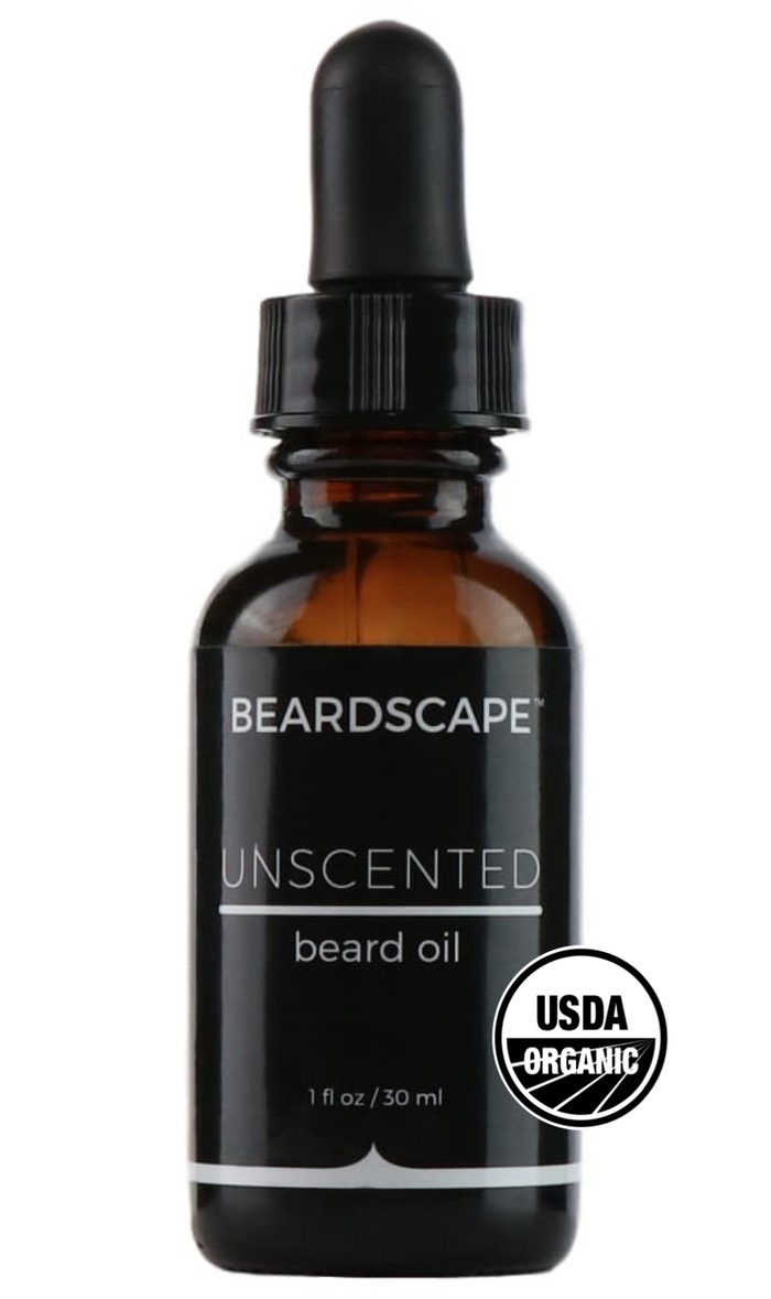Unscented Organic Beard Oil - BeardScape Co