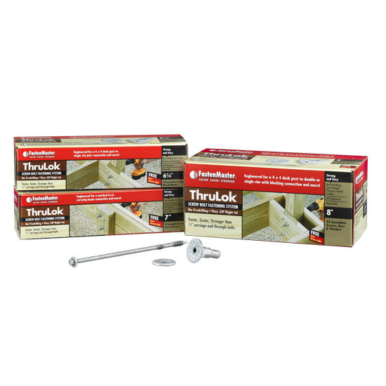 FastenMaster Thrulok  Carriage & Through Bolt (6 Count)