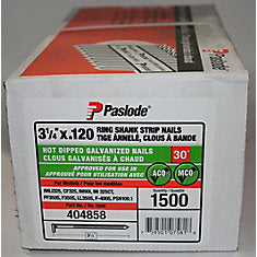 Passload 3-1/4 Hot Dip Galvanized Framing Strip Nails 1500ct