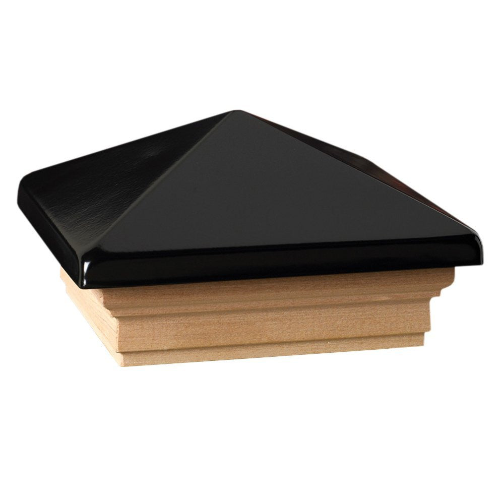 Deckorators 4x4 Victoria Black High Point Post Cap, Cedar