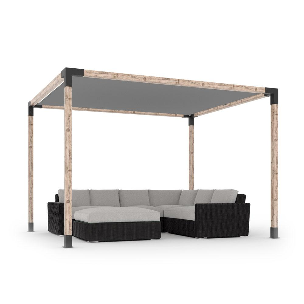 Toja Grid Pergola Kit with Shade Sail