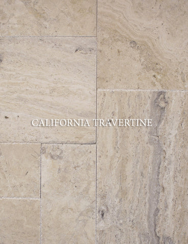 PHILADELPHIA FRENCH/ VERSAILLES PATTERN TUMBLED TRAVERTINE