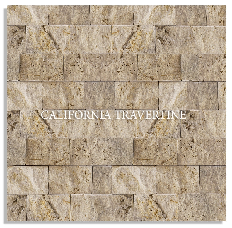 ARIZONA SPLIT FACE TRAVERTINE MOSAIC
