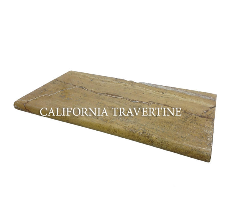 LEONARDO BULLNOSED TRAVERTINE COPING