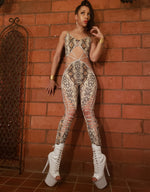 TWISTED MOVEMENT - Snakeskin Catsuit