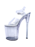 SKY HIGH Clear As Ice - 8 Inch heels DROP SHIPPED