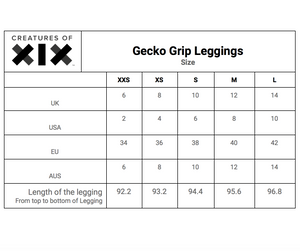 Creatures of XIX GECKO GRIP LEGGINGS BLACK