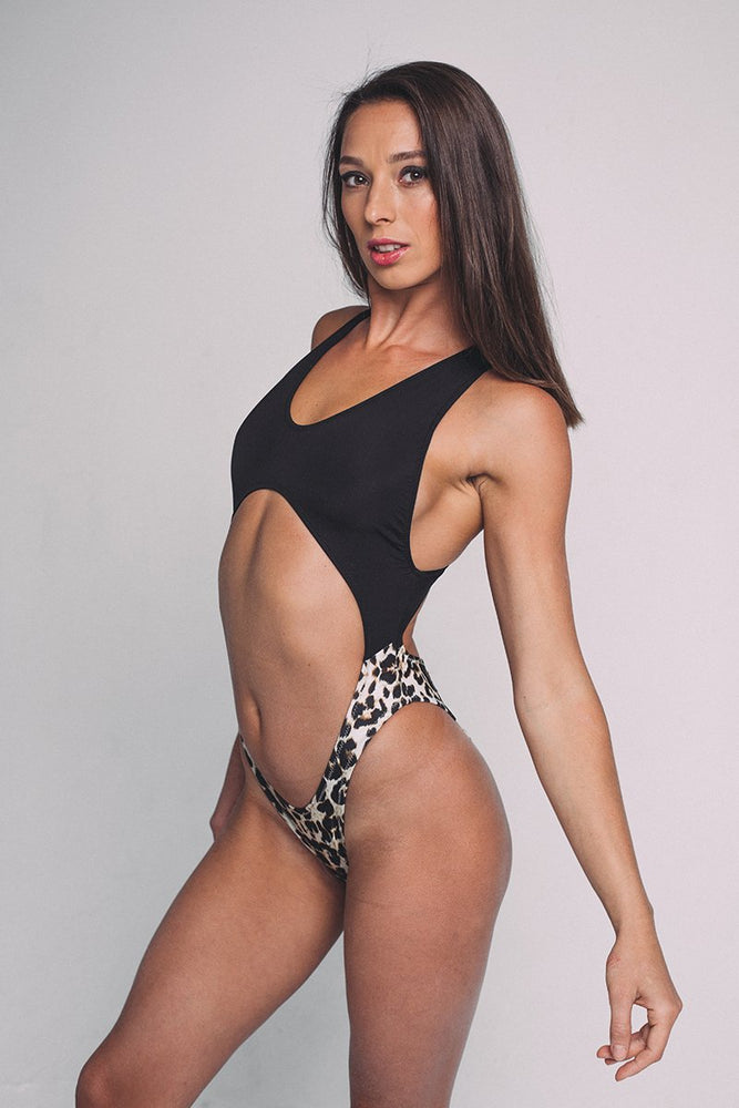 Shark Body Bashkilita - Black & Leopard